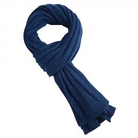 Blau meliertes Kaschmir-Halstuch