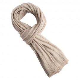 Beige meliertes Kaschmir-Halstuch